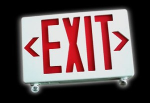 Exit sign using LED Bulbs