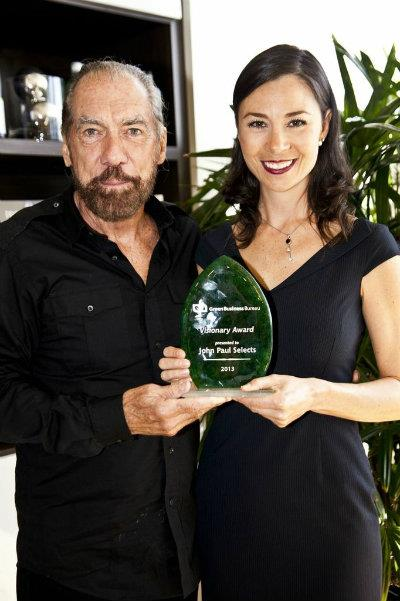 John Paul DeJoria with GBB's Jamie Clem