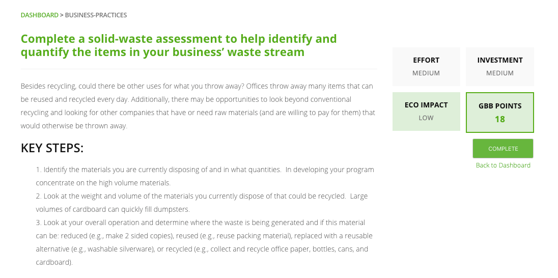 solid waste assessment initiative